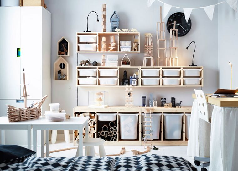 rangement chambre enfant avec meubles ikea
