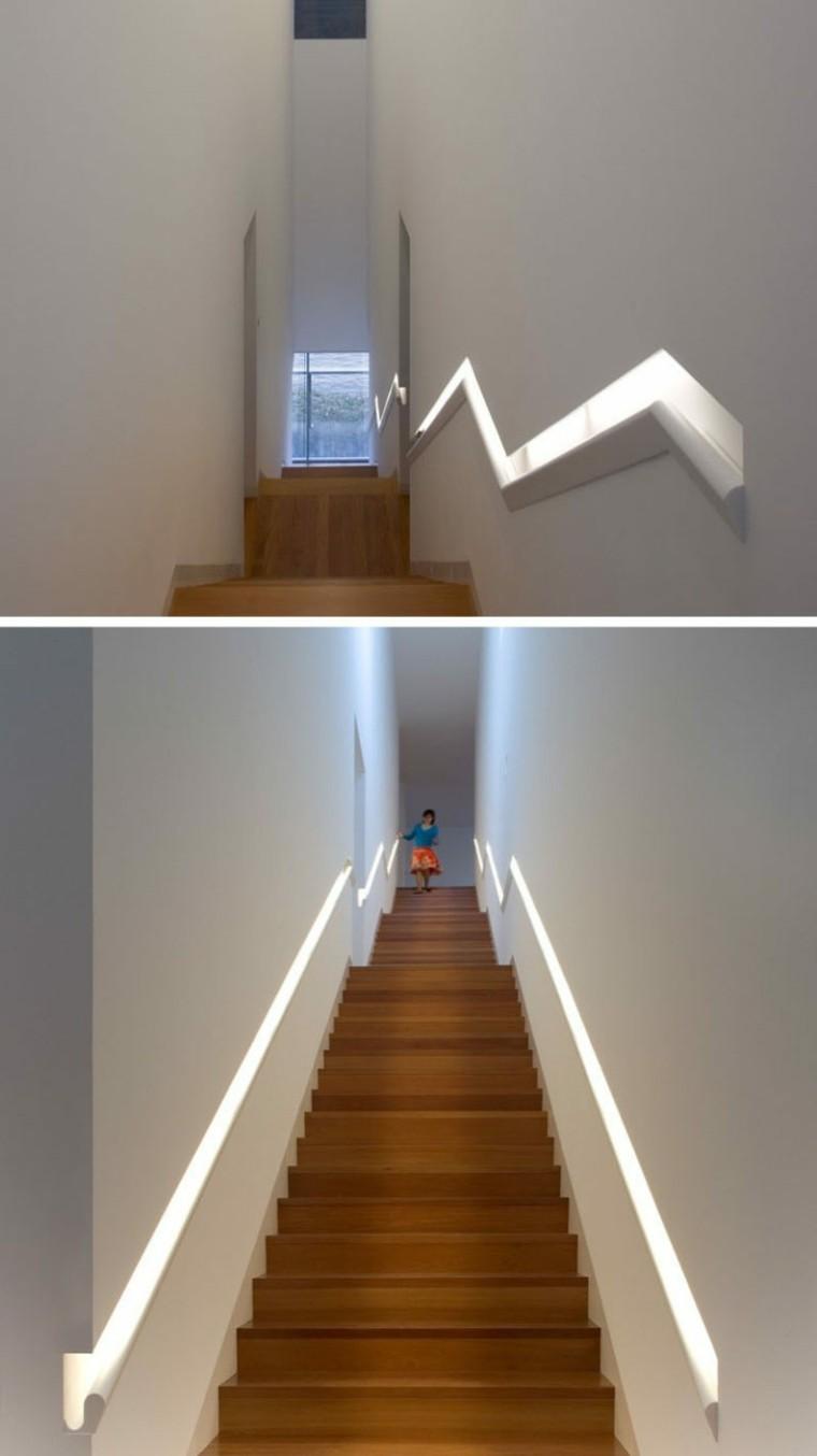 Main courante escalier intgre de style moderne