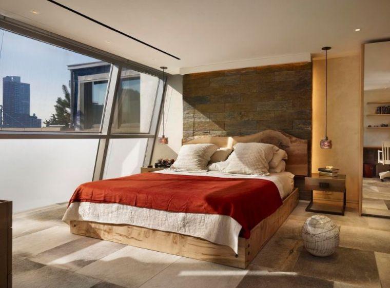 Tte de lit bois flott pour une chambre dambiance naturelle