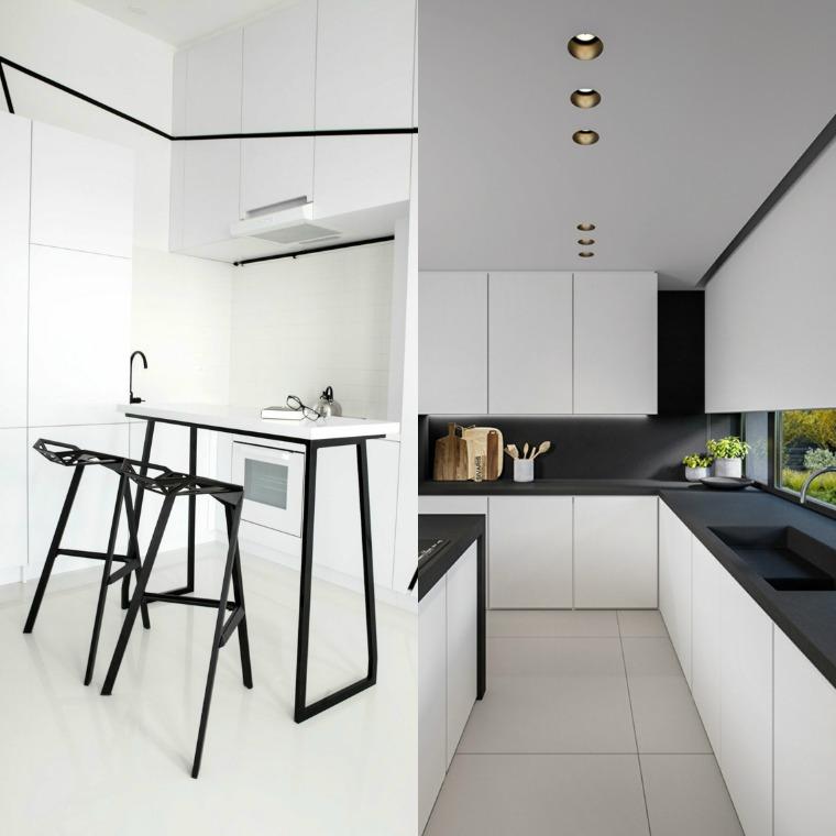 Cuisine blanche et noire  lgance et design intemporels