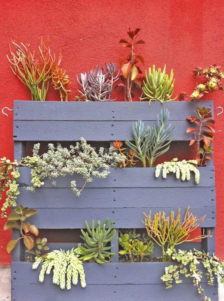 en palette de bois pour jardin vertical