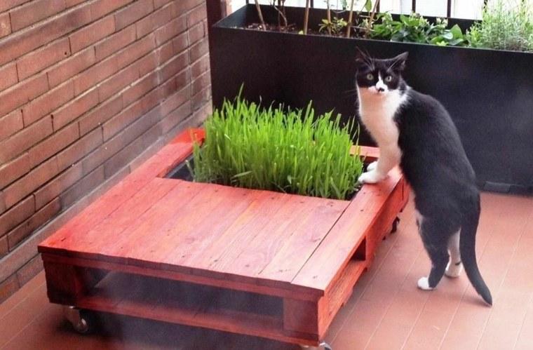 Jardinire En Palette De Bois Pour Jardin Vertical Ou