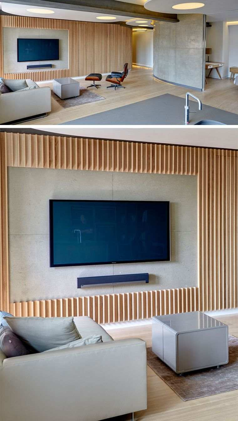 support ecran tele mural pour salon