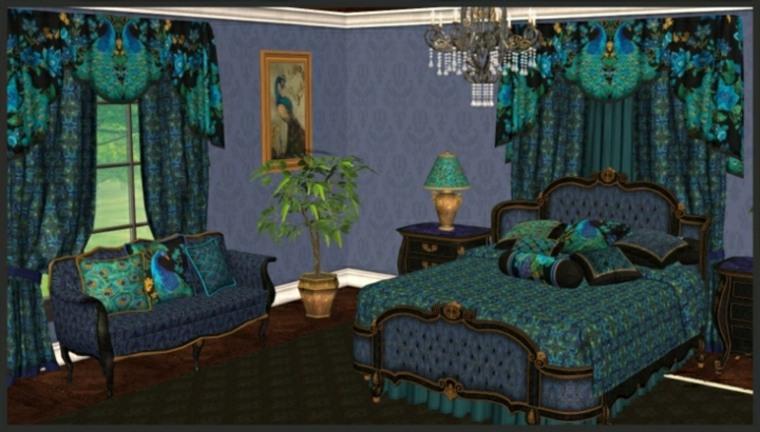 Chambre Bleu Canard Et Vert Prlvement D