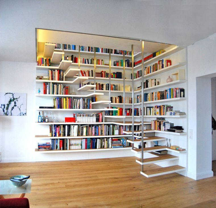 escalier bibliotheque design pour