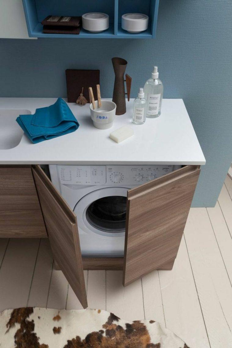 Meuble machine  laver pour un coin buanderie pratique