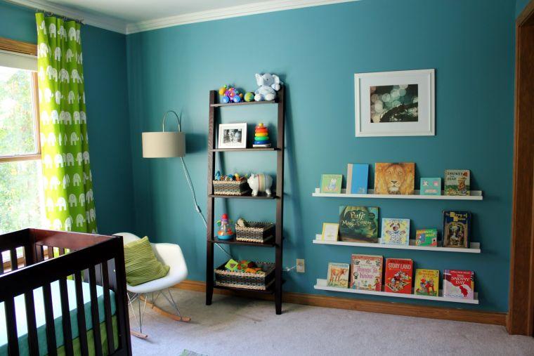 Chambre bb bleu canard  dco mobilier et accessoires