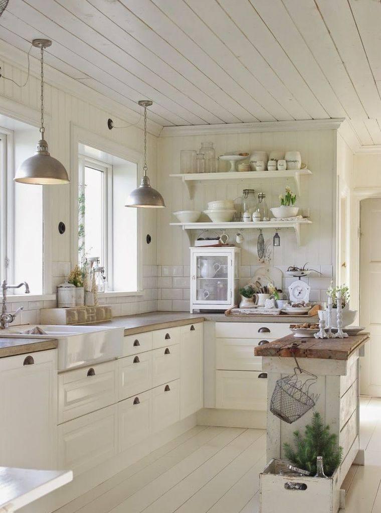 cuisine ouverte avec ilot central