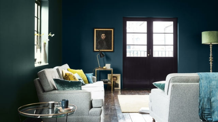 Salon Bleu Ptrole Bleu Canard Et Bleu Paon
