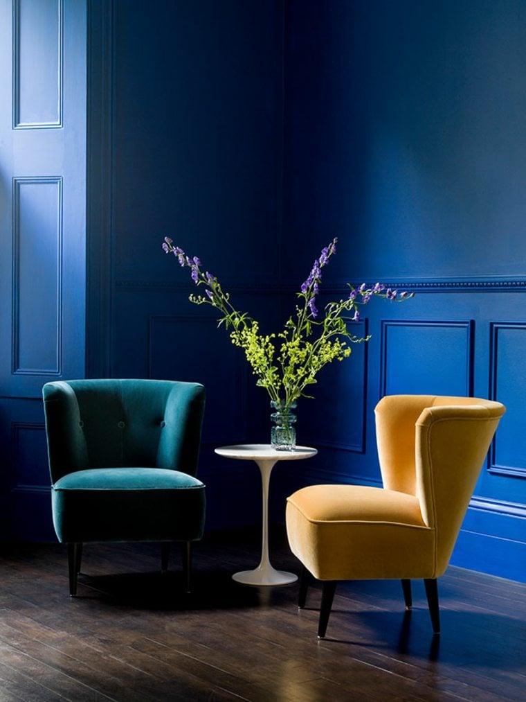 Tendance couleur salon 2017  vive le bleu