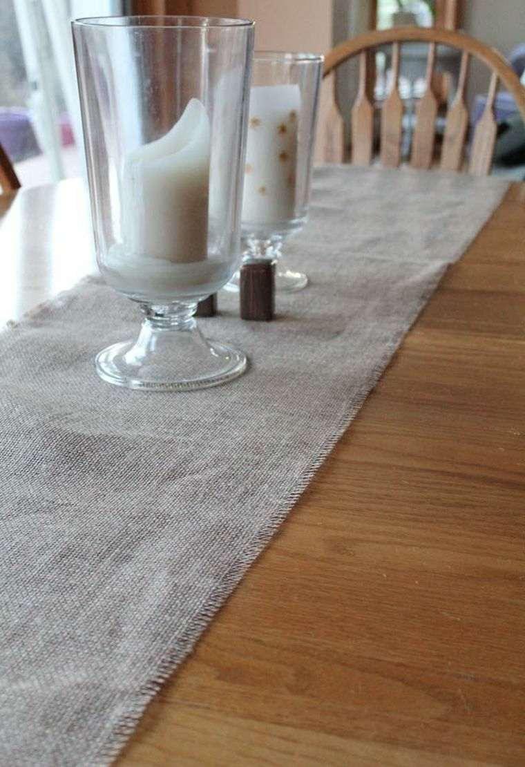 Chemin de table toile de jute  fabriquer soimme