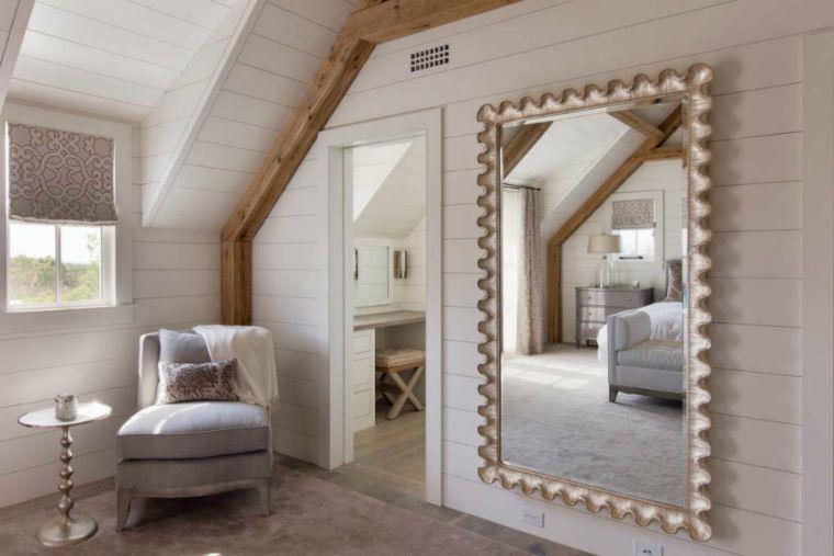 Quel miroir dans une chambre dadulte contemporaine