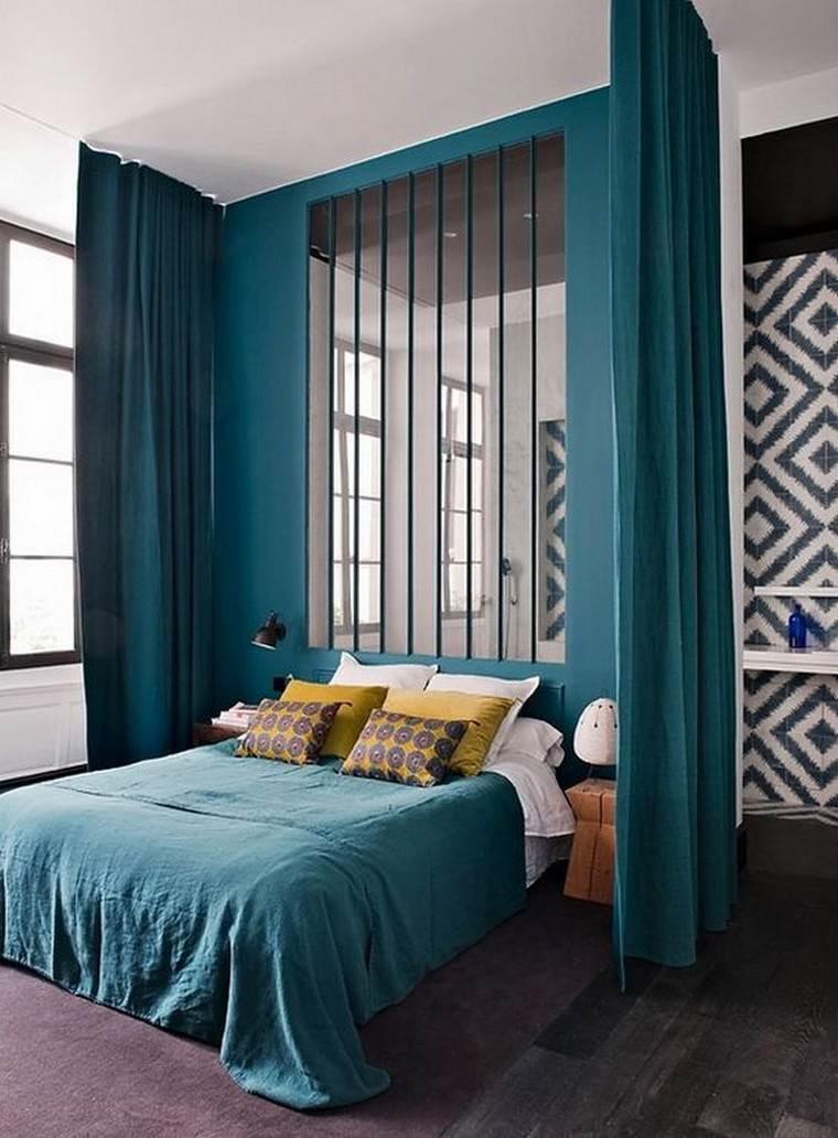 Dco chambre bleu canard pour un intrieur serein