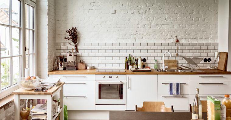 Cuisine blanche plan de travail bois  inspirations de dco