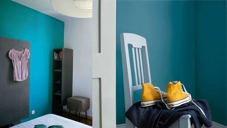 Dco chambre bleu canard pour un intrieur serein et agrable