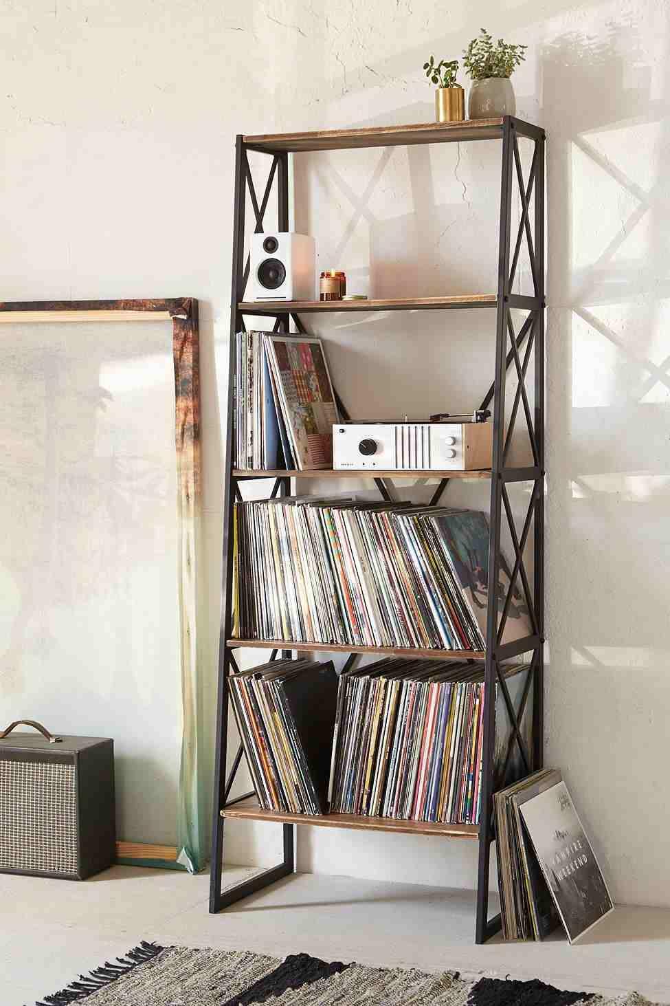 Rangement vinyle fonctionnel et lgant en 35 ides inspirantes