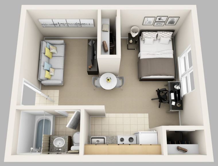 Le plan appartement dun studio  50 ides originales