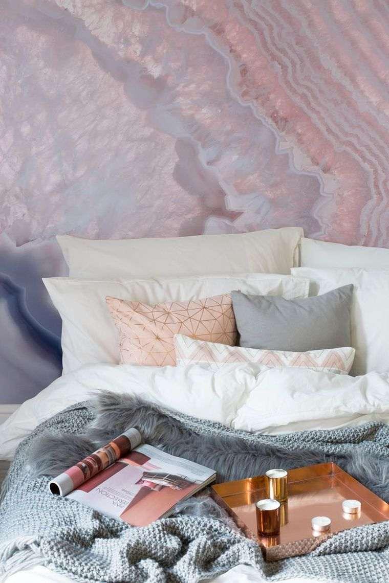 chambre rose et gris idees deco