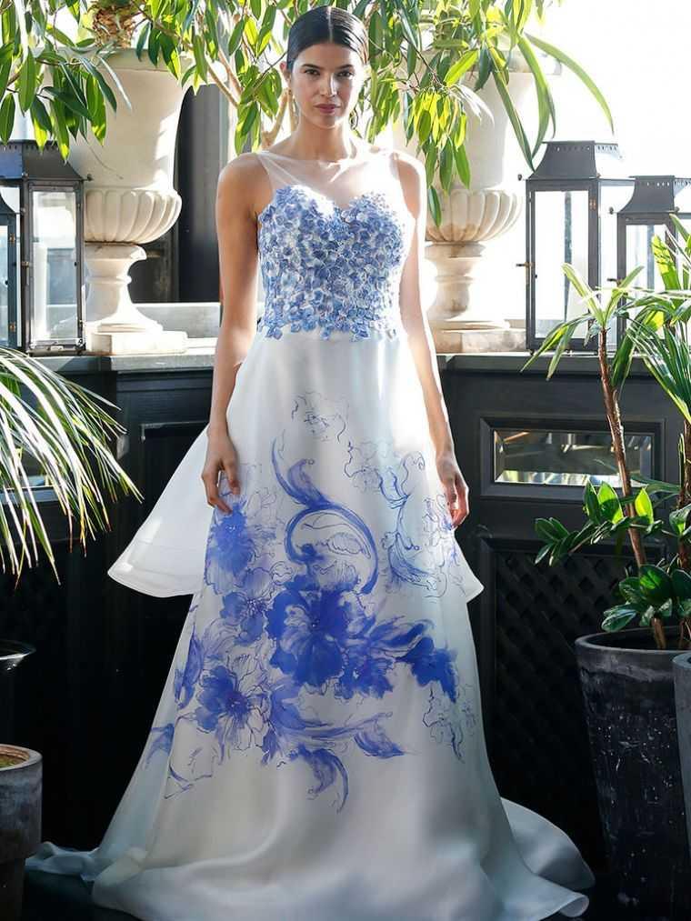 La robe mariage bleu pour celles qui veulent rompre avec la tradition