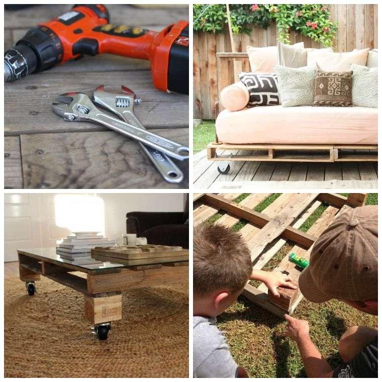 Fabriquer salon de jardin en palette de bois  tuto canap et table basse faciles