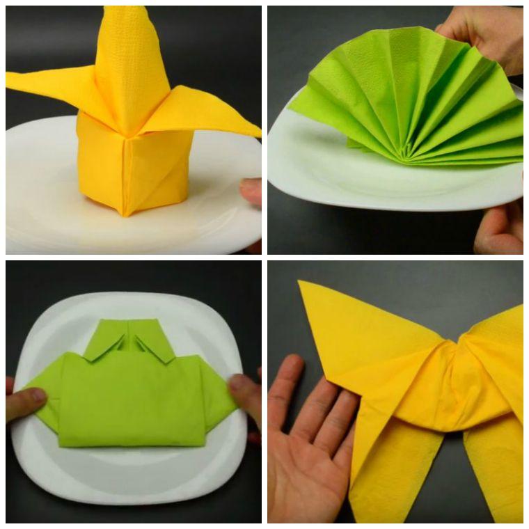 pliage de serviette en papier facile tutoriel deco de table idee