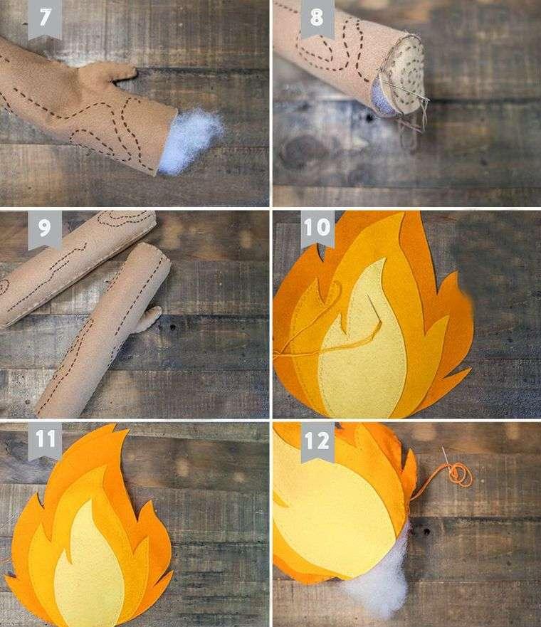 Comment faire une chemine en carton pour Nol