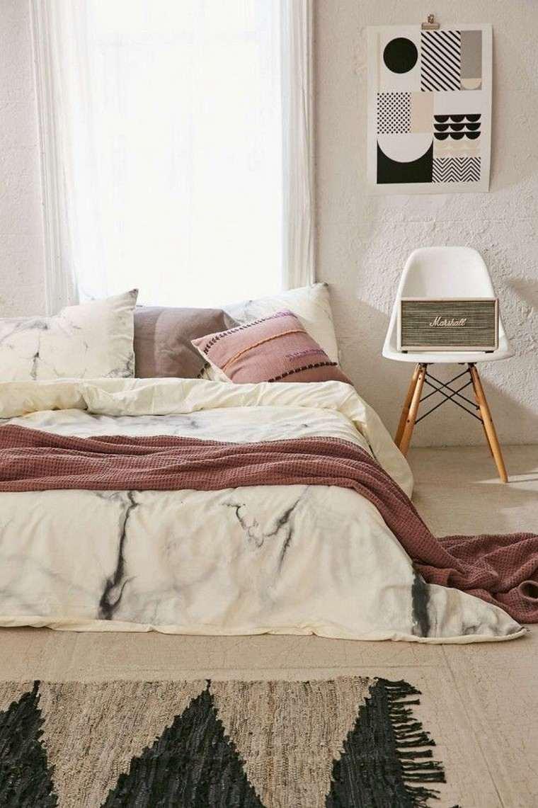 Chambre Style Bohème Image Postérisée Maquette Dans La Chambre à