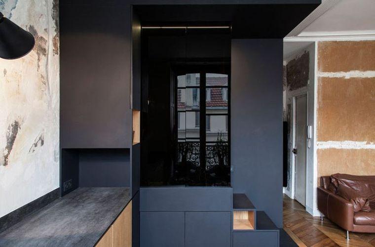 Dco petit appartement parisien qui allie le design moderne et le style vintage