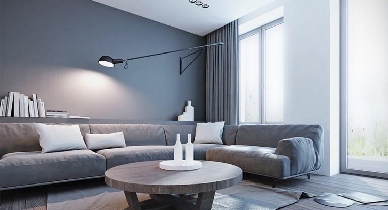 gris et blanc de style minimaliste