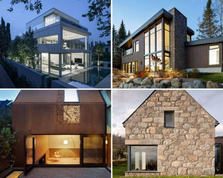 Architecture maison moderne  10 exemples exceptionnels qui associent la pierre le mtal et leverre