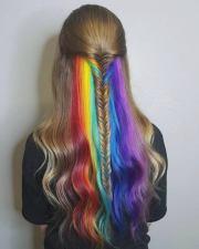 cheveux arc en ciel ou comment