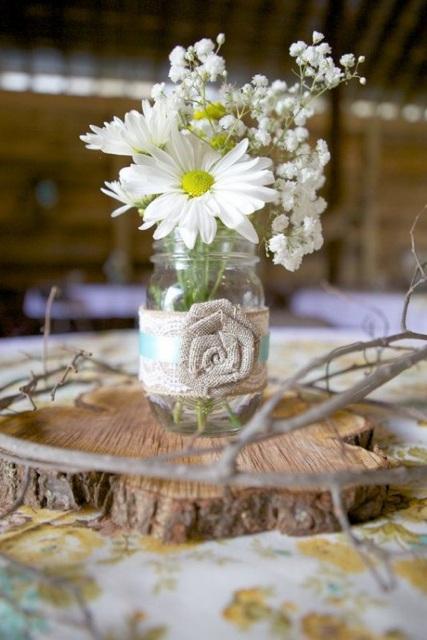 48 ides pour une dcoration de mariage rustique