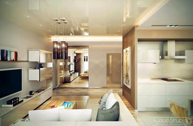Le petit appartement design de luxe par Savastudio