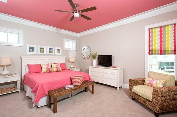 Le Plafond Color Est Une Excellente Ide De Dcoration