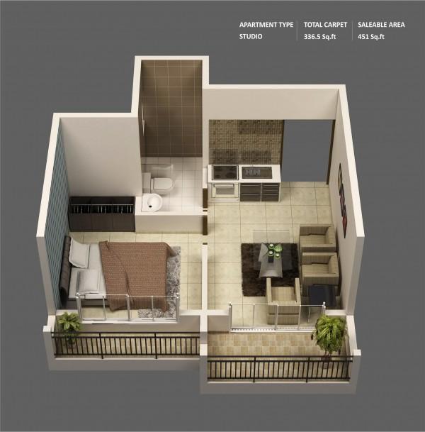 Le plan maison dun appartement une pice  50 ides