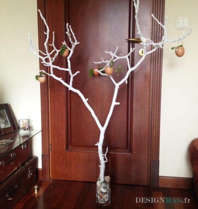 Bricolage pour Pques  une branche dcore