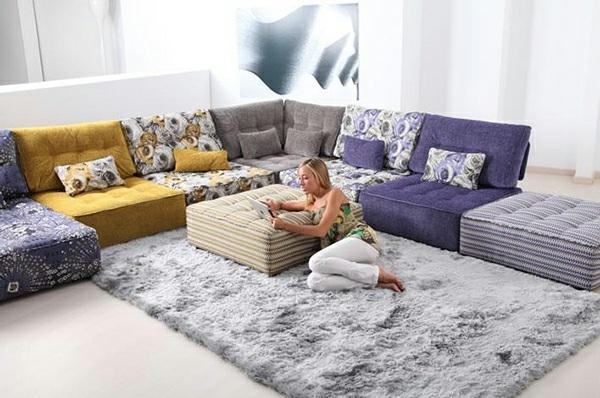 wooden sofa set without cushion charcoal grey slipcover canapé convertible de design fonctionnel par fama