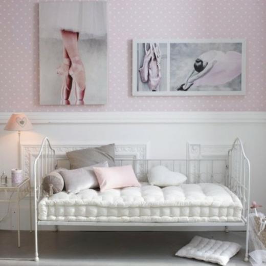 La chambre pour fille  glamour et moderne