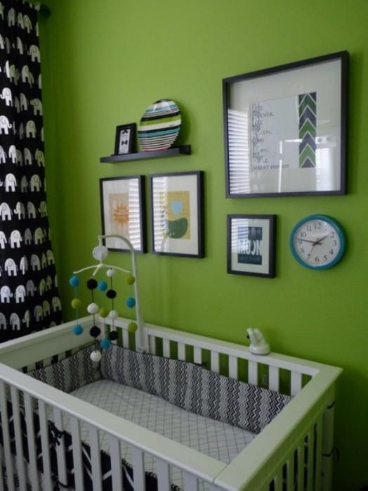 Chambre enfant en vert pour une atmosphre zen