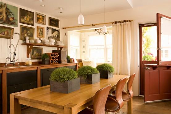 De la couleur chaude pour une belle cuisine contemporaine