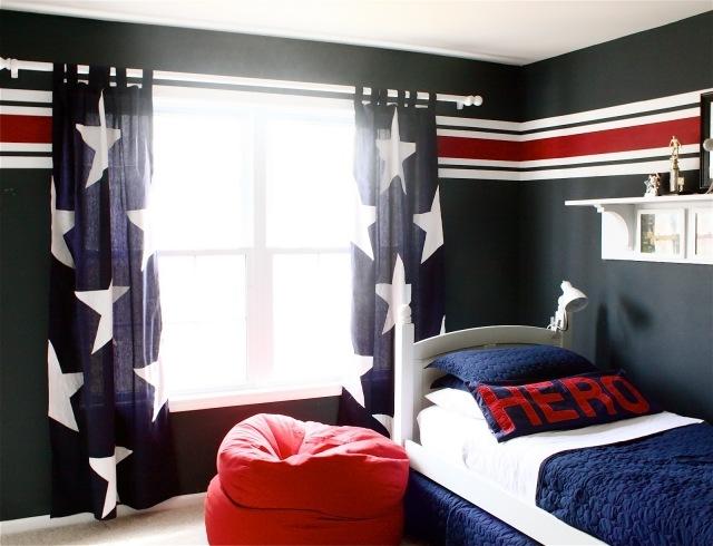 deco chambre ado murs en couleurs