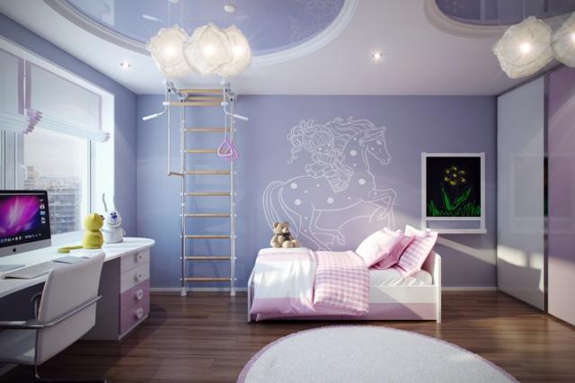Dco chambre enfant  une chambre moderne en violet