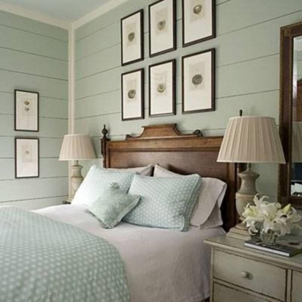 pale green color scheme for bedroom Déco chambre adulte contemporaine- 25 idées créatives