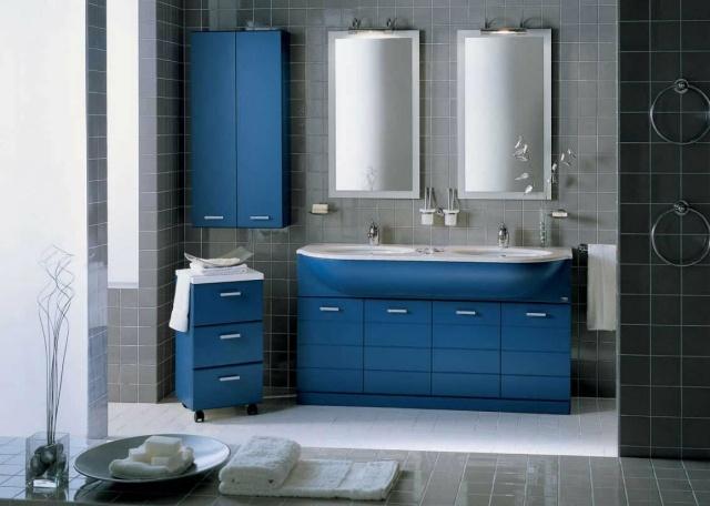 Dco salle de bains  25 ides de mobilier en couleurs fraches