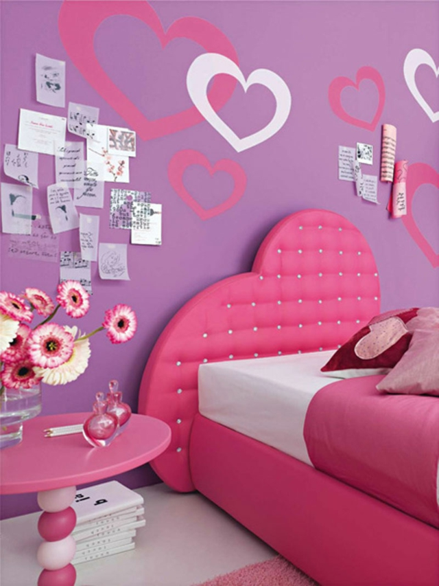 decoration chambre de fille en rose
