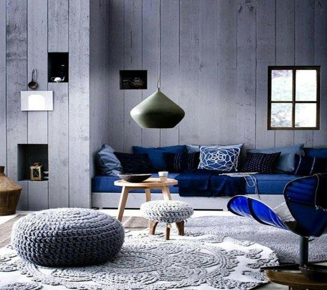 16 ides dco murale originale en bleu et violet