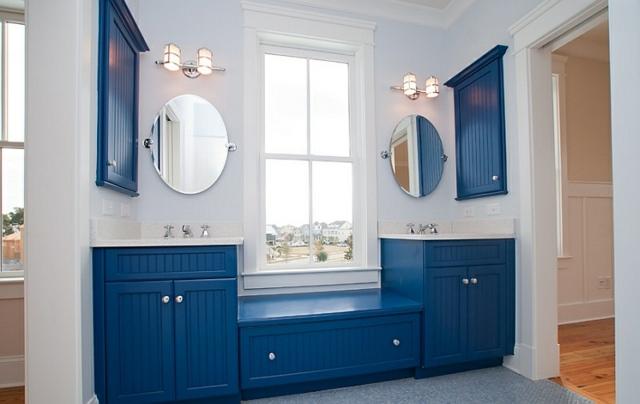 Dco intrieur  blanc et bleu combinaison classique