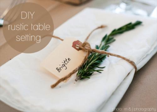 Lide Dco Table De Mariage DIY Simple
