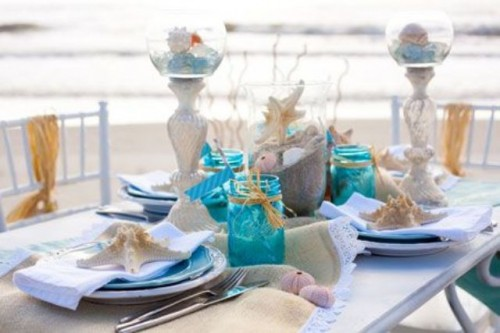 deco table mariage marine