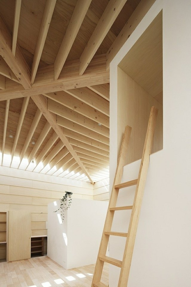 Maison moderne japonaise en bois